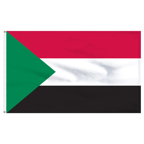 Sudan 5' x 8' Nylon Flag