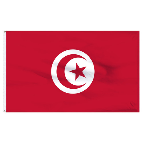 Tunisia 5' x 8' Nylon Flag