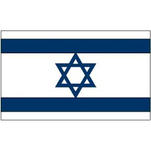 "Israel 8"" x 12"" Stick Flag"