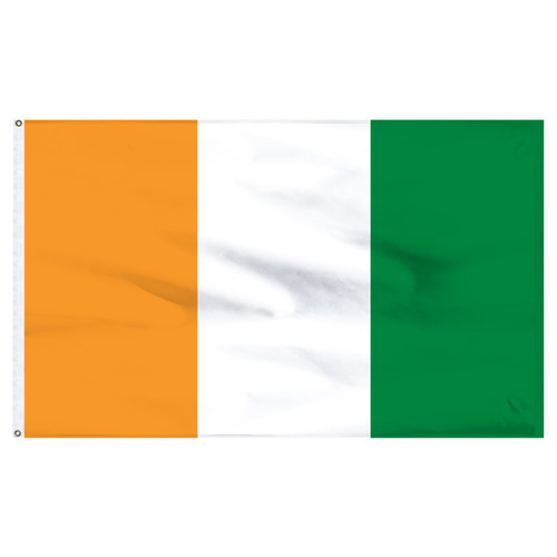 Cote d Ivoire 12in x 18in Nylon Flag