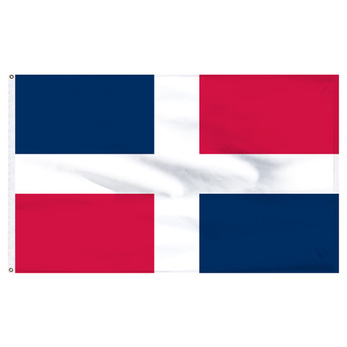 "Dominican Republic 12"" x 18"" Nylon Flag - No Seal"