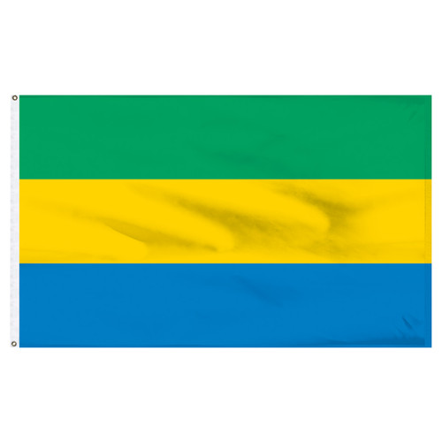 "Gabon 12"" x 18"" Nylon Flag"