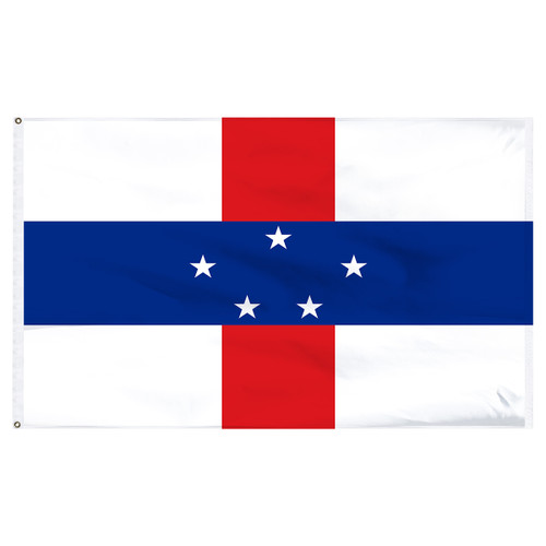 "Netherlands Antilles 12"" x 18"" Nylon Flag"