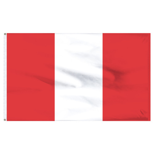 "Peru 12"" x 18"" Nylon Flag - No Seal"