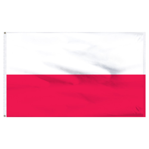 "Poland 12"" x 18"" Nylon Flag - No Eagle"
