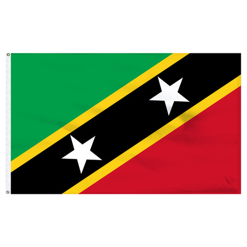 "St. Chris-Nevis 12"" x 18"" Nylon Flag"