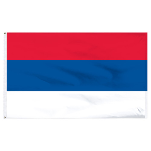 "Serbia 12"" x 18"" Nylon Flag - No Seal"