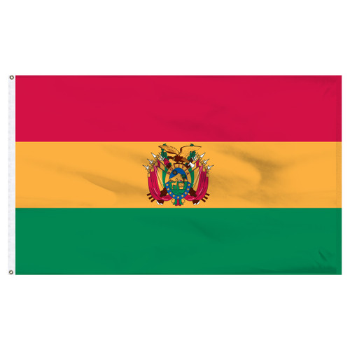 Bolivia 6' x 10' Nylon Flag With Seal