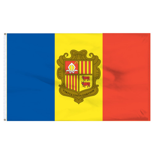 Andorra 6' x 10' Nylon Flag With Seal