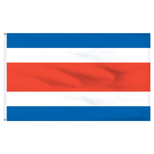 Costa Rica 6' x 10' Nylon Flag - No Seal