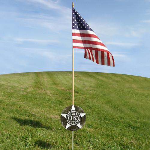 U. S. Veteran Grave Marker & Flag Set