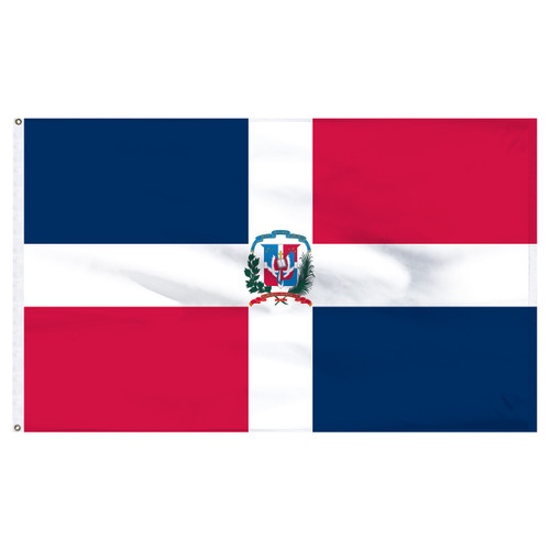 Dominican Republic 6' x 10' Nylon Flag With Seal