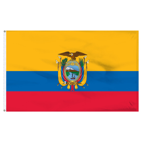 Ecuador 6' x 10' Nylon Flag With Seal