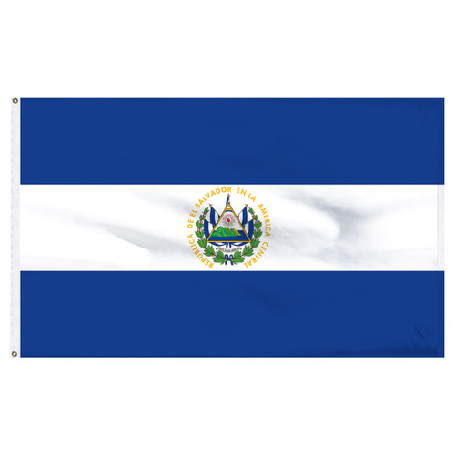 El Salvador 6' x 10' Nylon Flag With Seal
