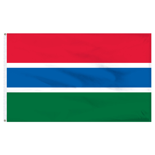 Gambia 6' x 10' Nylon Flag