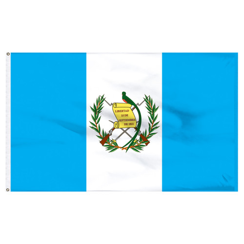 Guatemala 6' x 10' Nylon Flag With Seal
