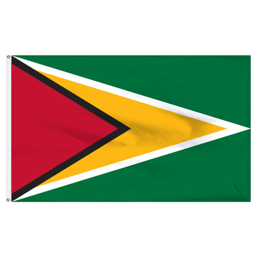 Guyana 6' x 10' Nylon Flag