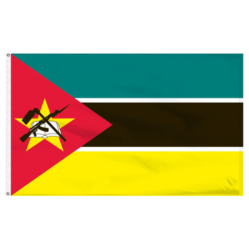 Mozambique 6' x 10' Nylon Flag