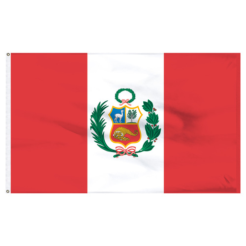 Peru 6' x 10' Nylon Flag With Seal