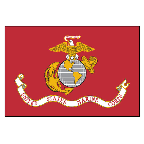 US Marine Corps Flag 4ft x 6ft Heavy Duty Spun Polyester
