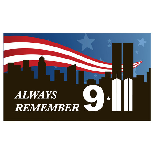 9 11 Remembrance Flag 3ft x 5ft Nylon