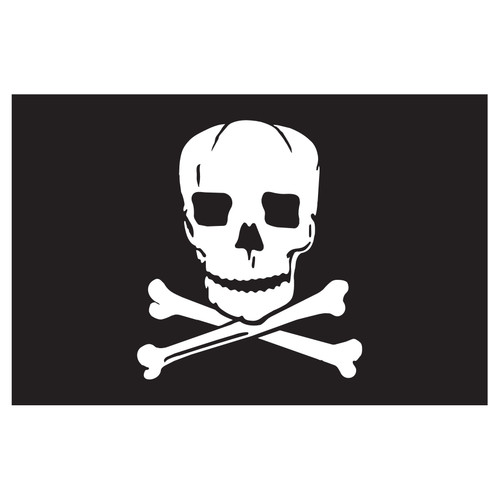 3ft x 5ft Pirate Decorative Flag - Jolly Roger