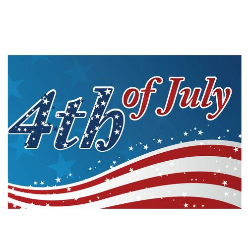 3ft x 5ft Decorative Flag - Fourth Of July