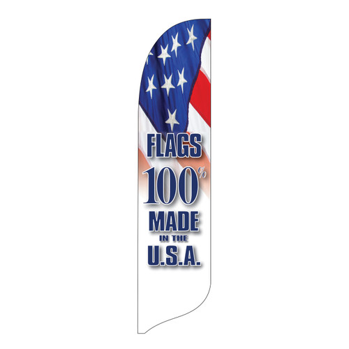 Outdoor Advertising Blade Flag - Made in  the USA