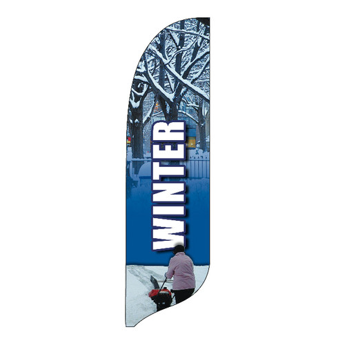 Outdoor Advertising Blade Flag - Winter