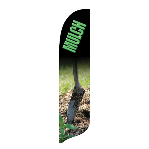 Outdoor Advertising Blade Flag - Mulch