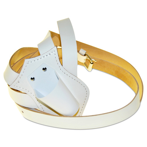Double Strap White Carrying Belt