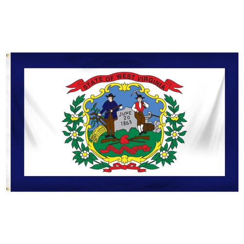West Virginia State Flag 5ft x 8ft Spun Heavy Duty Polyester
