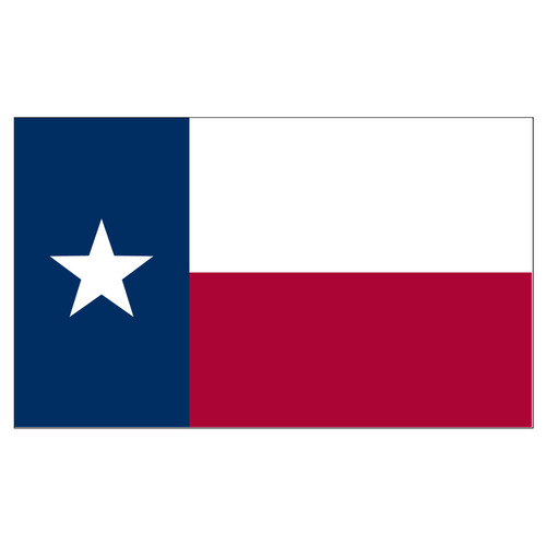 Texas Stick Flag 12in x 18in Polyester - Black Staff