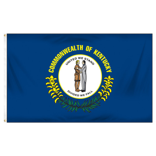 Kentucky 3ft x 5ft Spun Heavy Duty Polyester Flag