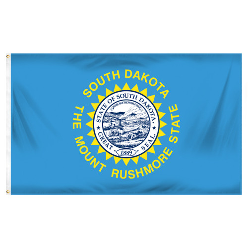 South Dakota 3ft x 5ft Spun Heavy Duty Polyester Flag