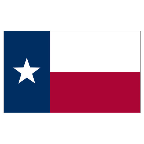 Texas 3ft x 5ft Spun Heavy Duty Polyester Flag