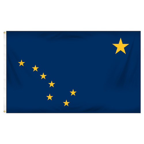 Alaska 4ft x 6ft Spun Heavy Duty Polyester Flag