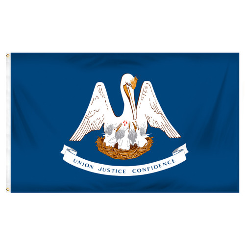 Louisiana 4ft x 6ft Spun Heavy Duty Polyester Flag