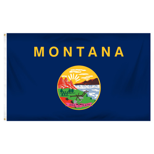 Montana 5ft x 8ft Spun Heavy Duty Polyester Flag