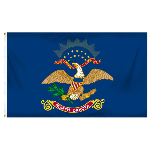 North Dakota 5ft x 8ft Spun Heavy Duty Polyester Flag