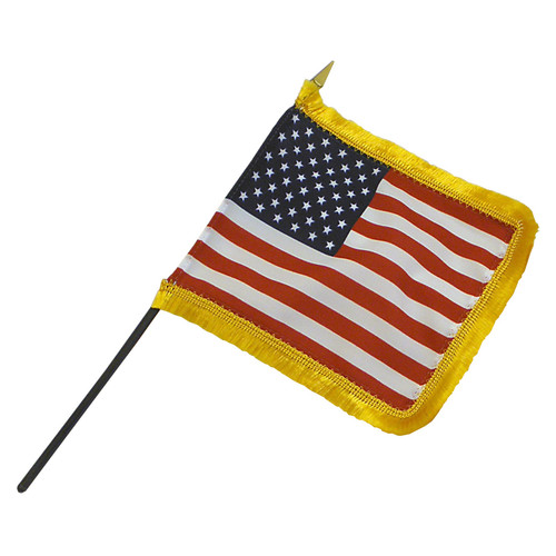 4in x 6in  Fringed US Stick Flag
