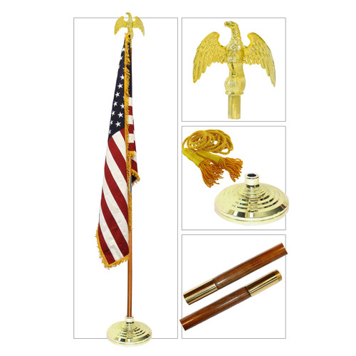 8ft U.S. Indoor Flag Set by Valley Forge