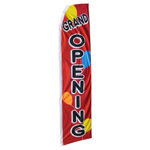 Grand Opening Swooper Flag - Balloons