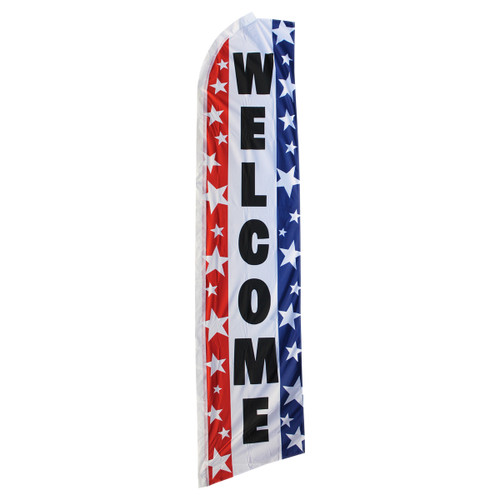 Welcome Swooper Flag - Patriotic Stars