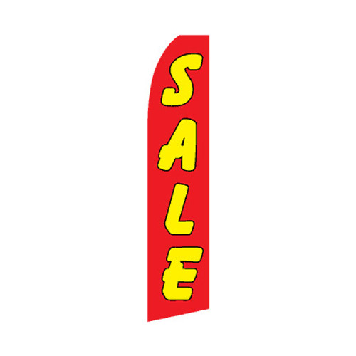 Sale Swooper Flag - Red & Yellow