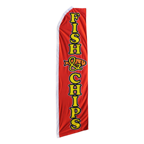 Fish & Chips Swooper Flag