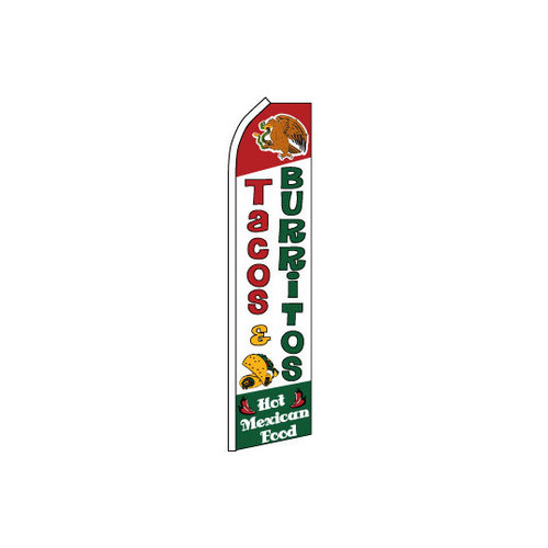 Tacos & Burritos Swooper Flag
