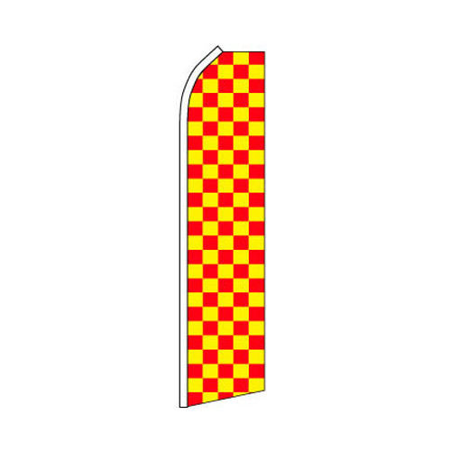 Red and Yellow Checkered Swooper Flag