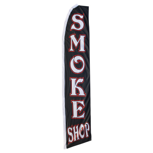 Smoke Shop Swooper Flag - Black