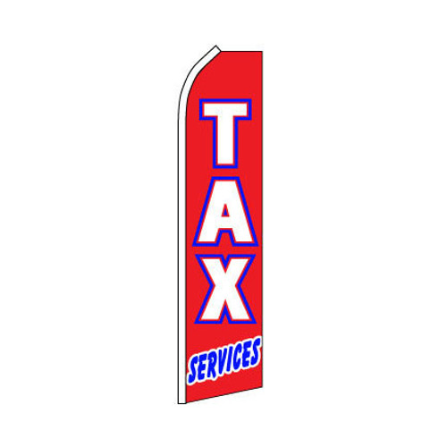 Tax Services Swooper Flag